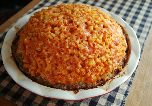 Pasta Pie cooked post