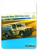 Maqueta de coche 1/24 SpotModel - Italeri - Mercedes Benz 230 G - Nº 251 - Paris Dakar 1982