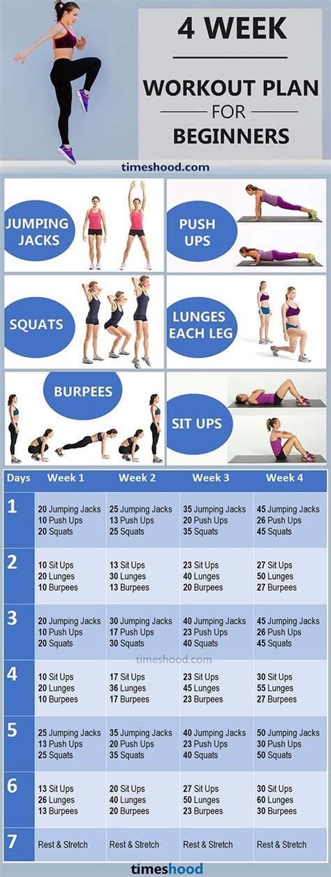 week workout plan  beginners  home