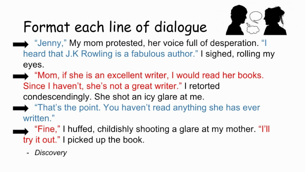 how to write dialogue in an essay for interview