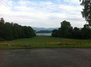 A view from Parc de la Grange overlooking Lake Geneva.