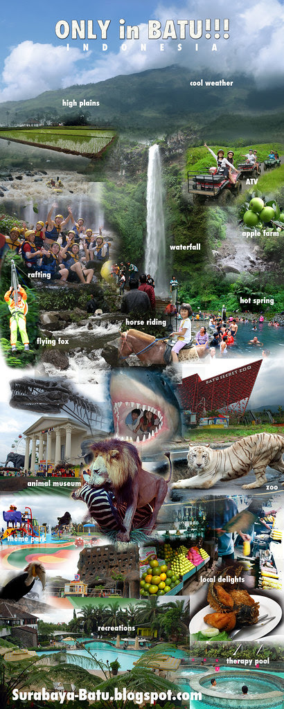 photo montages of Batu, Malang for roll-up banner (small)