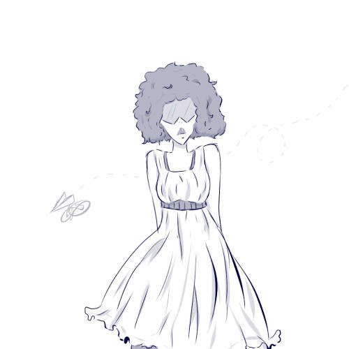 It's a doodle of chill Garnet in a dress of some sort. Dunno why i drew this.