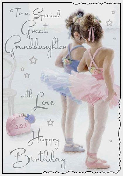 Great Granddaughter Ballerina Birthday Card