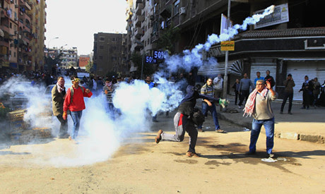 Egyptian unrest where three were killed on December 27, 2013. The military regime has outlawed the Muslim Brotherhood and imposed other restrictions on protests. by Pan-African News Wire File Photos