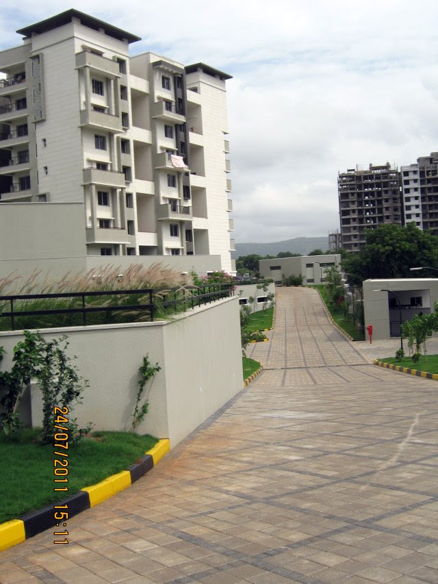 "Driveway & Sobha Carnation - on the day of launch of ""Sobha Garnet - 3 BHK & 4 BHK Flats"" - off NIBM Road -  at Kondhwa - Pune"