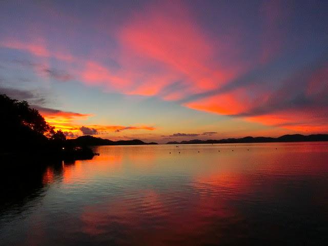 Sunset in Coron island, Palawan, Philippines