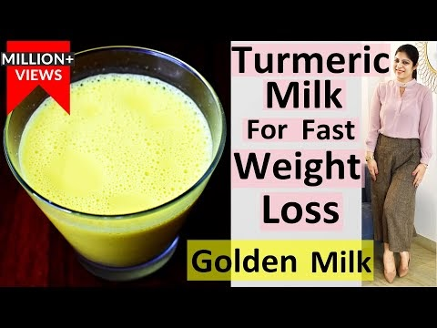 Turmeric Milk In Hindi |Golden Milk In Hindi | Haldi Doodh For Fast Weight