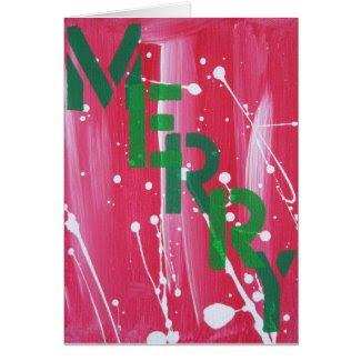 Graffiti Merry Card
