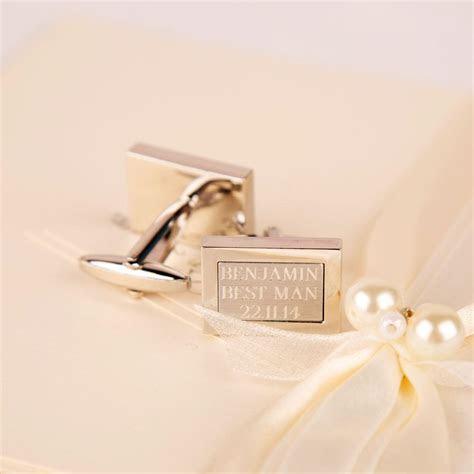 Best Man cufflinks   personalised cufflinks   wedding day