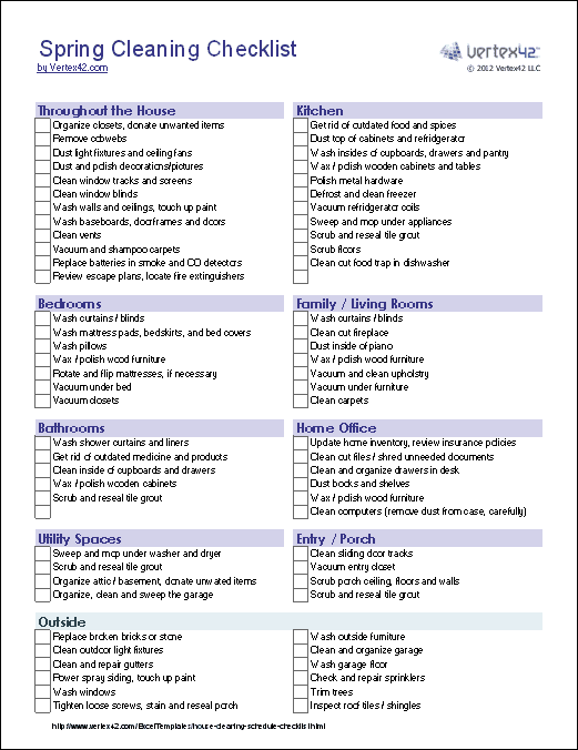 blank house cleaning checklist - 521×676