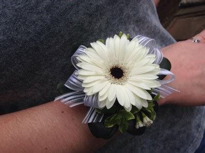 Gerbera Daisy Wrist Corsage in Saint Johnsbury, VT   ALL