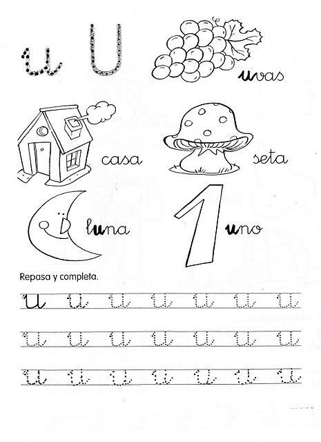 Fichas De Grafomotricidad De Las Vocales