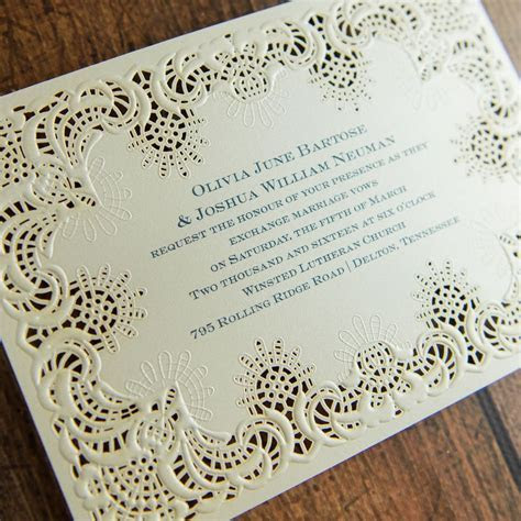 Simply Radiant Laser Cut Invitation   Invitations By Dawn