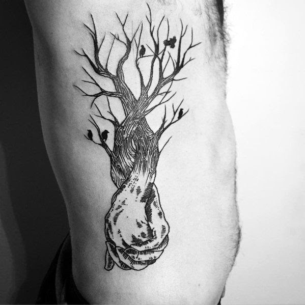 60 Cool Tree Tattoos For Men Nature Inspired Ink Design Ideas