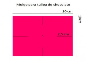 Molde de lembrancinha de casamento: tulipa de chocolate