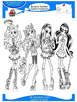 Monster High Boyama Sayfalar Plugin Gratis