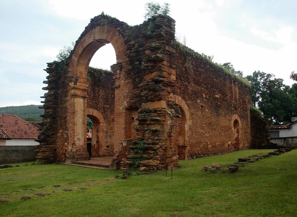 Ruína em Natividade é um dos principais símbolos do Tocantins (Foto: Prefeitura de Natividade/Divulgação)