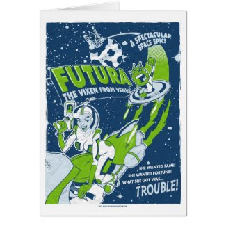 Science Fiction Space Girl card