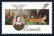 Frances Ann Hopkins Commemorative Stamp