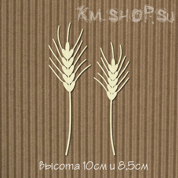 Чипборд Колоски ржаные 2шт