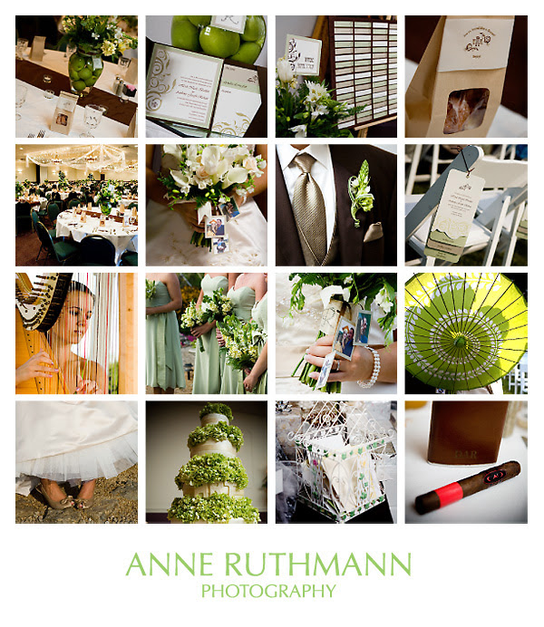 Green Brown Real Wedding Inspiration Board
