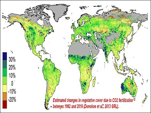 rising global CO2 feeds the planet