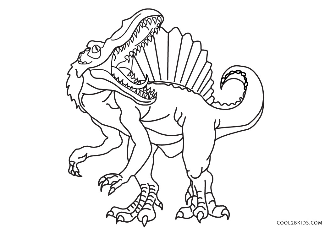 Extinct Animals : 36 Printable Dinosaur coloring pages for ...