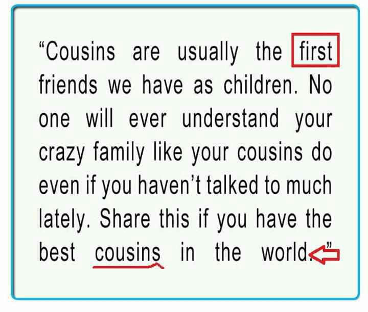 Quotes About Favorite Cousin 28 Quotes