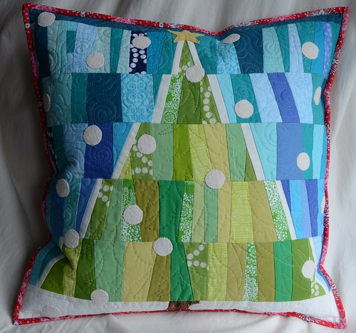 Improv Tree Pillow by Poppyprint