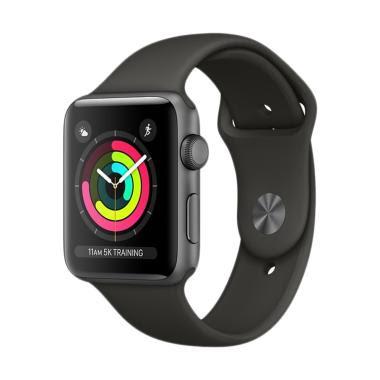 DISKON Apple Watch Series 3 GPS Space Grey Alum with Sport Band Smartwatch  - Grey  38mm  BELI SELAGI HARGA BELUM NAIK 4182c97bb8