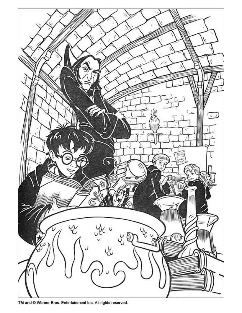 Coloriage Harry Potter 3 | Haut Coloriage HD-Images et Imprimable Gratuit