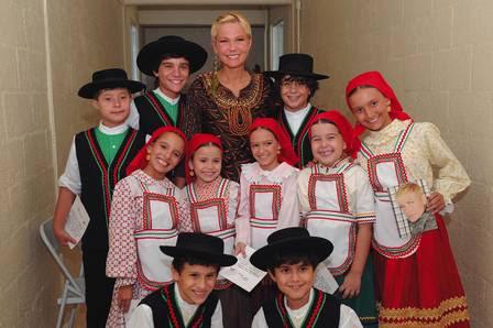 Xuxa na gravação do DVD