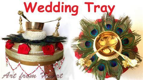 DIY   How to make decorative Wedding Tray/ Plate? Wedding