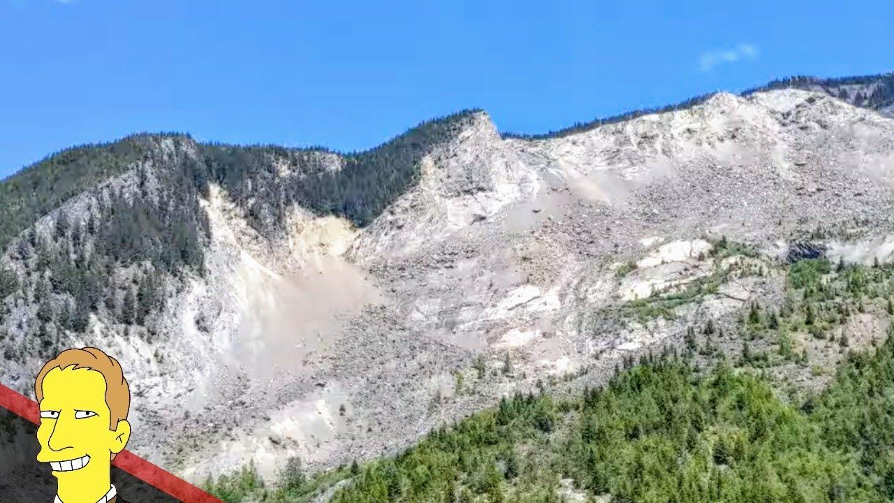 view of landslide in Hope BC