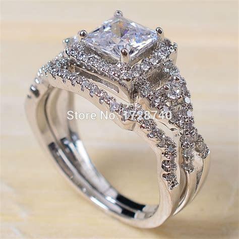Aliexpress.com : Buy Sz 5 10 Princess Cut White Gold