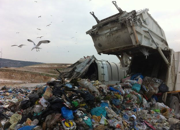 The Fyli landfill site near Athens