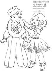 sailor boy and hula girl