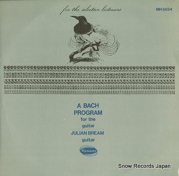 BREAM, JULIAN bach program for the guitar, a