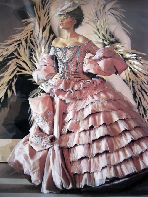 Rococo inspired couture dress by Dior from the 1950s.