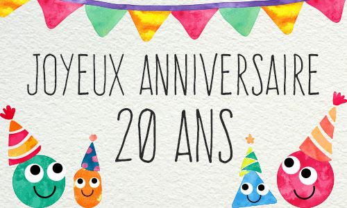 Carte Bon Anniversaire 20 Ans Humour Mod232le Lisaoycwilson Site