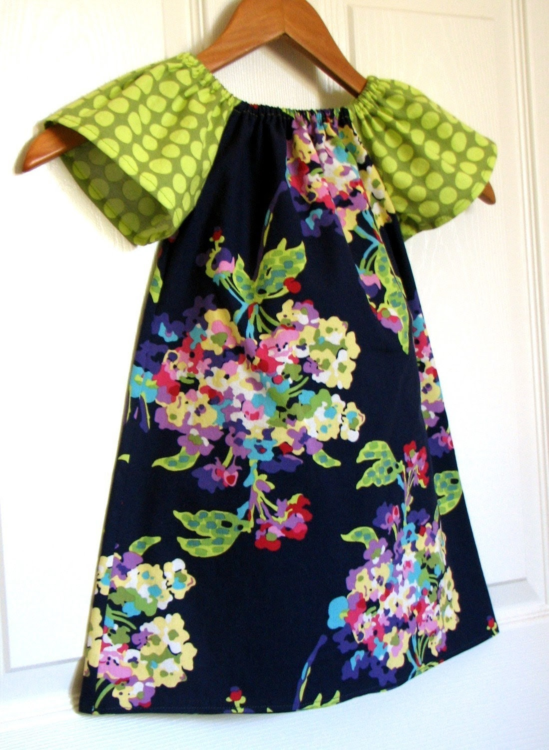 Modern Peasant Dress by ButterflyBabyPlace