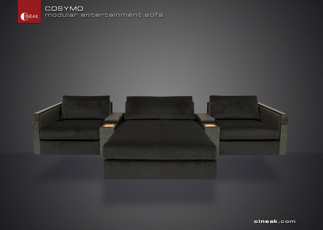 Media Room and Home Theater Sectional Sofa by Cineak - - sofas ...