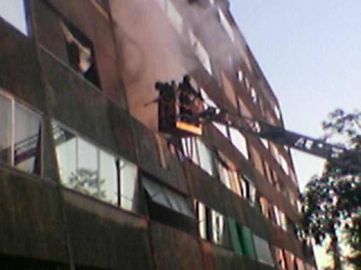 incendio al 227, intervento drammatico