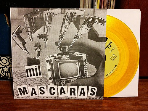 "Mil Mascaras - Fuzz 7"" - Gold Vinyl (/200) by Tim PopKid"