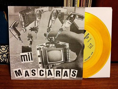 "Mil Mascaras - Fuzz 7"" - Gold Vinyl (/200) by Tim PopKid"