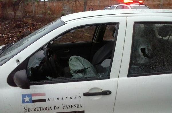O fiscal José de Jesus Gomes Saraiva estava no carro da Secretaria da Fazenda quando foi assassinado