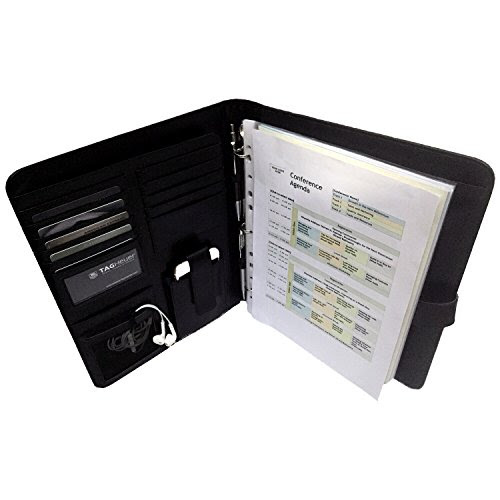 Executive Resume Portfolio, Padfolio, Removable 3 Ring Binder, Agenda Planner, Leather Organizer