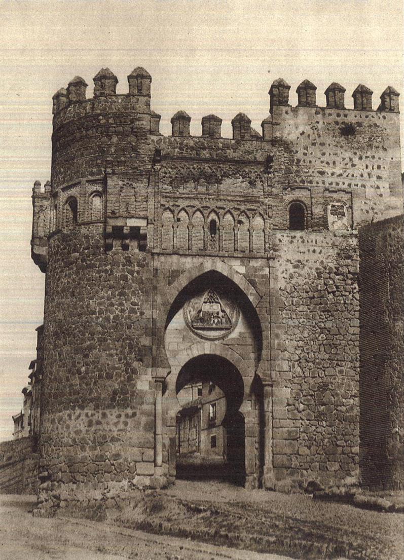 Puerta del Sol (Toledo) en 1858. Fotografía de Gustave de Beaucorps