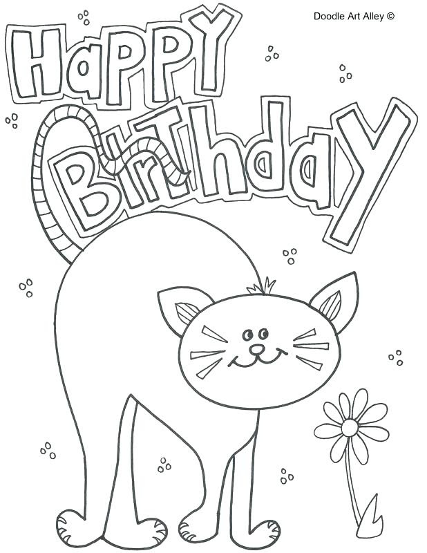 Happy Birthday Dad Coloring Pages at GetColorings.com ...